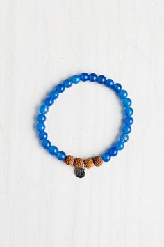 I Am Confident Bracelet made with Blue Agate by Mala Collective