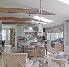 Gorgeous farmhouse kitchen from the Cape Cod home of Old Silver Shed