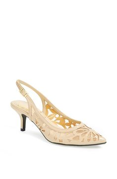 Free shipping and returns on J. Reneé 'Genie' Pump at Nordstrom.com. A gorgeous laser-cut butterfly design styles the vamp of a charming slingback pump set on a demure, wrapped heel.
