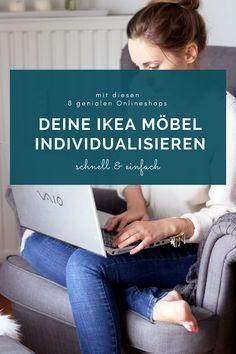 Einfach geniale IKEA Hacks hab ich dir schon einige gezeigt, jetzt hab ich eine schöne Sammlung mit Shops für dich, mit deren Hilfe du ganz einfach deine IKEA Möbel individualisieren kannst. #ikeahacks #ikeahack #ikeaindividualisieren #ikeamoebel #ikeadiy