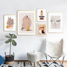Modern Gallery Wall, Modern Wall Art, Living Room Gallery Wall, Art Gallery, Canvas Wall Art, Wall Art Prints, Canvas Prints, Wal Art, Kids Room Art