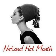September is National Hat Month! Audrey Hepburn loved haute couture hats. We have several vintage millinery fashion pieces in our boutique and we look forward to adding more soon! This 1940s Janyth Roy black pillbox reminds one of Breakfast at Tiffany's!!