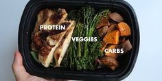 Three words: protein, veggies and carbs. That's the format I've used since day one of