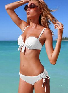 i want that top in white for the honeymoon! strapless bikini top=no unwanted tan lines
