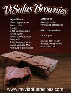visalus-brownie-recipe visalus  www.michellegallant1117.myvi.net