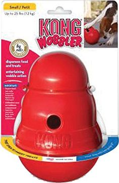 KONG Wobbler Treat Dispensing Dog Toy * Hurry! Check out this great product : Dog treats