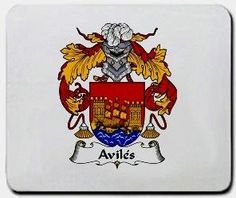 Aviles Family Shield / Coat of Arms Mouse Pad $11.99