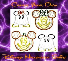 Disney Mickey Minnie Halloween Shirt  Family Vacation by MouseKouture1