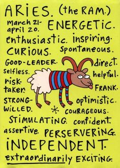 aries. to the point. exactly me.
