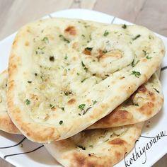 Garlic Naan /Garlic Flavored Leavened Indian Flatbread