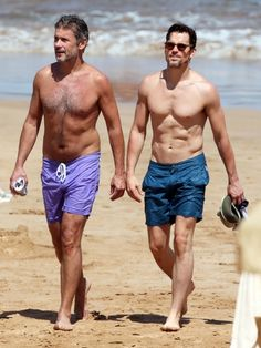 Shirtless Matt Bomer Enjoys Some Paddle Boarding In Hawaii With Simon Halls