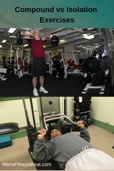 Should you be doing compound or isolation weight lifting exercises? Compound Lifts, Compound Exercises, Types Of Muscles, Core Muscles, Heavy Weight Lifting, Weight Lifting Workouts, Shoulder Press Machine, Best Physique