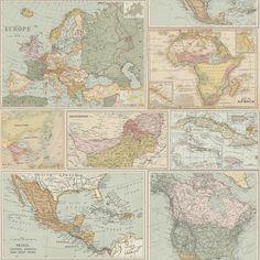 Globetrotter - World Map Wallpaper