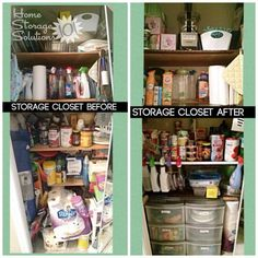 Before and after when a reader, Maggy, decluttered her storage closet {featured on Home Storage Solutions 101}