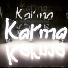Karma Stencil Art, Stencils, Karma Has No Deadline, Urban Art, Universe, Neon Signs, Wallpaper, Bar, Facebook