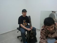 Pavkata with a guitar