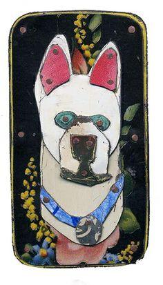 Jane Wells Harrison metal dog badges. Love these!