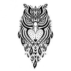 Owl Ethnic pattern design for tattoo ideas. #tattoo #inkideas #owldesign #owl #ad