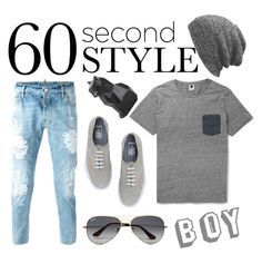 """""""BOY"""" by delfisoria ❤ liked on Polyvore featuring Vans, Dsquared2, Ray-Ban, PyroPet, men's fashion, menswear, DRAKE, views and 60secondstyle"""