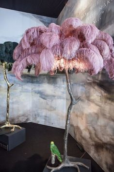 The Ostrich Feather Lamp Coral A Modern Grand Tour For