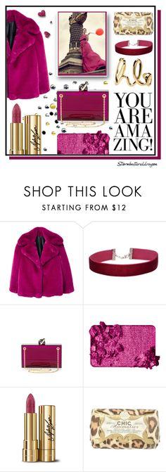 """""""Burgundy"""" by stormbattereddragon ❤ liked on Polyvore featuring MANGO, Miss Selfridge, Charlotte Olympia, Too Faced Cosmetics, Dolce&Gabbana, Upper Canada Soap and Chloé"""
