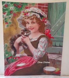 Pastel Sec pour Tableau Victorien, Romantique * MANON * - Création Originale : Accessoires de maison par diva-divine