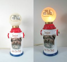 MCM Kitsch Bar Lamp Enesco Fire Hydrant Dog by looseendsvintage