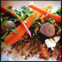 Freekeh salad at StrEAT, Flemington Melbourne Food, Risotto, Salad, Beef, Ethnic Recipes, Meat, Salads, Lettuce, Steak