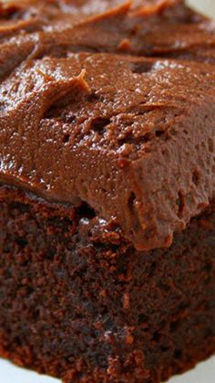 Chocolate Sour Cream Cake ~ A double dose of chocolate