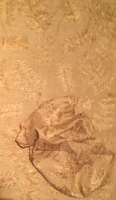 """Donghia Embroidered """"Gold Leaf"""" Fabric  2 pieces #Donghia"""