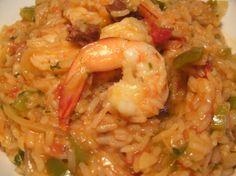 Spanish Rice and Prawn One Pot