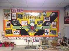 world war 2 classroom displays Ks2 Classroom, History Classroom, History Teachers, Teaching History, Classroom Design, Classroom Themes, Teaching Displays, Class Displays, Classroom Displays