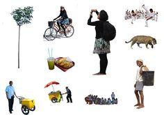 Imagens de pessoas, animais e vegetais com fundo transparente para fotocomposição.