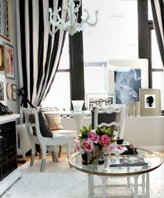 black and white home decor