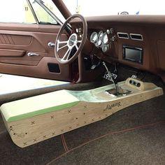 bux customs Center console custom brown pro touring  camaro center: