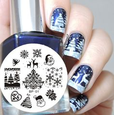 Christmas Nail Art Stamping Plate Image Template Nail Tool #01 BORN PRETTY | eBay