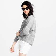 Collection ribbed sweatshirt : knits & tees | J.Crew