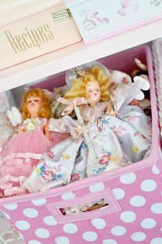 dolls in pretty boxes...wonderful present back then...