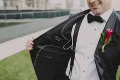 Unique Groom Style   Remember the Date   Tux Detail   Classic Black & White   London NYC Brooklyn Wedding Photographer