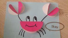 Diy Crafts For Girls, Paper Crafts For Kids, Summer Crafts, Baby Crafts, Toddler Crafts, Diy And Crafts, Arts And Crafts, Circle Crafts, Ocean Crafts