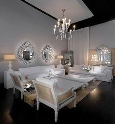 White Minimalist Style Living Room Design   Home Decorating Ideas