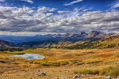 Cottonwood Pass near the continental divide in Colorado.