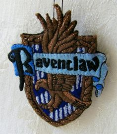 Harry Potter Ravenclaw Shield Hand Embroidered Felt Ornament by Autumn2May, via Flickr  I would love a whole set of these