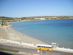 Mellieha Bay Malta, numerous bars & restaurants, on street parking, public toilets at the top end of the beach. Beautiful Islands, Beautiful Places, Malta Gozo, Malta Island, Archipelago, Holiday Destinations, Continents, Old Photos, Places To Visit