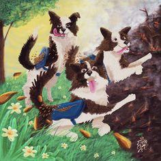 Encachaoart illustration/ graphic humor/ @encachaoart /Ilustracion/ humor grafico/ dog story illustration/ historias de perros ilustradas