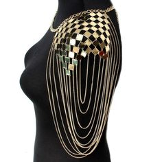 I Bohemian Punk Statement Necklaces Collar Shoulder Chain Long Necklaces & Pendants Women Sexy Statement Body Jewelry Pendant Size: Metals Type: Zinc Alloy Color: Gold,Silver Weight: 190 Gram Lace Earrings, Lace Necklace, Long Pendant Necklace, Necklace Types, Pendant Jewelry, Jewelry Necklaces, Bracelets, Long Necklaces, Bohemian Necklace