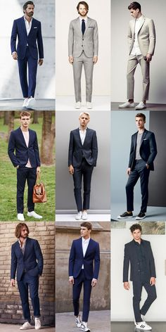 Great Contrasting Outfit Combinations : Suits & Trainers Lookbook Inspiration