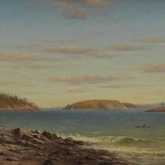 Charles Henry Gifford - Frenchman's Bay, Mount Desert Island, Maine, 1874 offered by Brock & Co. on InCollect Hudson River School Paintings, Albert Bierstadt, Mount Desert Island, Art Academy, His Travel, Landscape Paintings, Art Paintings, Maine, Around The Worlds