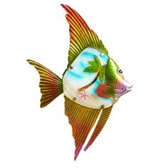 """One of my favorite discoveries at ChristmasTreeShops.com: 20"""" Red Fish Wall Decor Hanger"""