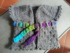 Lavori a maglia, 10 tutorial per un cardigan da neonato | diLanaedaltrestorie